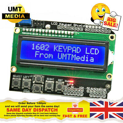 1602 16x2 LCD KEYPAD Display HD44780 Screen Module BLUE Arduino UNO, MEGA 2560