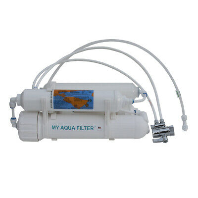 4-stage Portable Counter Top Aquarium RO Reverse Osmosis with DI, 50 GPD, USA