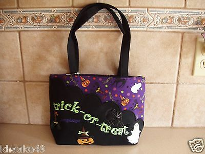 Longaberger Halloween Party Tote Purse With Scalloped Pocket Nip * Free Shipping