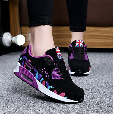 Fashion Athletic Air Max Womens Lace Up Contrast Color Running Preppy Sneakers