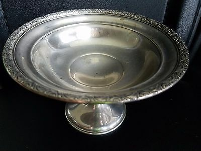 """STERLING SILVER FOOTED SMALL BOWL 5 3/4"""" BY ALVIN  S125  CEMENT LOADED 7.4oz"""