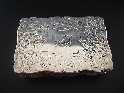 Victorian Sterling Silver Rectangular Lidded Snuff Box – G. Loveridge Birmingham
