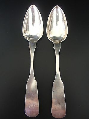 Pair of Antique American Silver Spoons - James Watson Philadelphia PA.