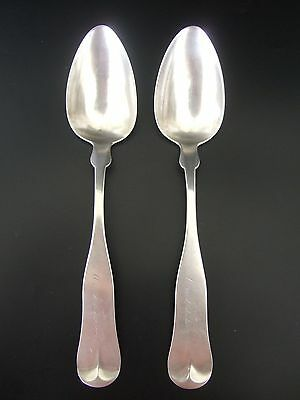 Pair of Antique Gorham & Co. Silver Serving Spoons 1852-1865