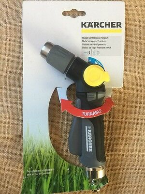 karcher Premium Metal Spray Gun Hose Nozzle Pistol Watering