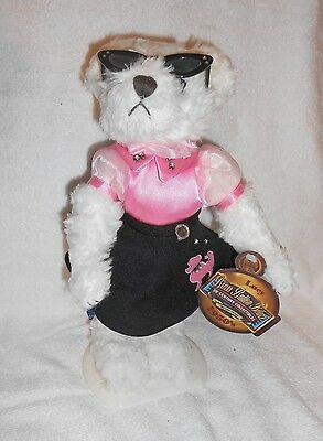 """Brass Button Bears 20th Century Collectibles 1950s Lucy 11"""" Plush on Stand w/Tag"""