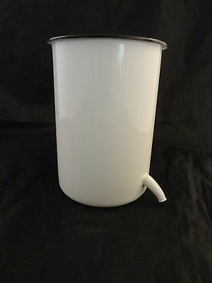 Vintage Graniteware Enamel Ware Metal White Irrigator Douche Medical
