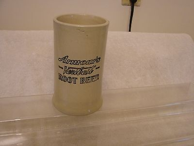 Armour's Veribest Root Beer Antique Stoneware Handled Mug 6""