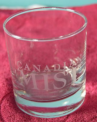 Canadian Mist Whisky Lowball Rocks Etched Glass VTG Barware Cocktail Whiskey NEW