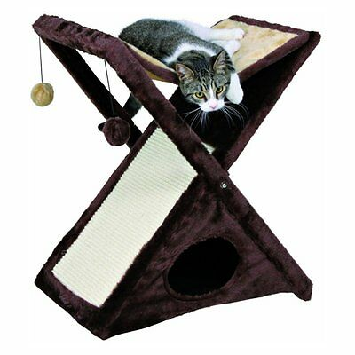 TRIXIE Miguel Cat Scratching Tower, Brown, 20.5 x 13.75 x 25.5 in.