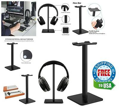 Gaming Headphone Headset Hanger Black Universal Stand Desk Holder Mount Standard