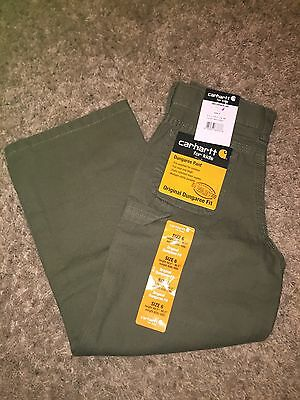 Youth NEW CARHARTT Original Dungaree Fit Size 6 Olive Green Jeans