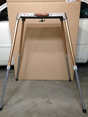 Vintage Project-O-Stand Safe-Lock Portable Projector Table Heavy Duty Adjustable
