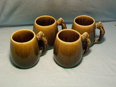Four Vintage Hand Made Artist Signed Mugs