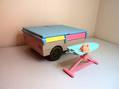 Fisher Price Loving Family Doll house furniture camping trailer ironing board