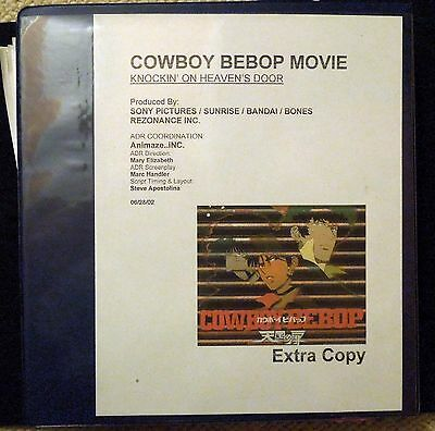 COWBOY BEBOP THE MOVIE Production Notes DIRECTOR'S SCRIPTS Bandai Anime