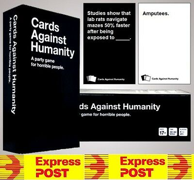 AU V1.7 Cards Against Humanity GAME MAIN Base Set 550 Party Card Game Express PO