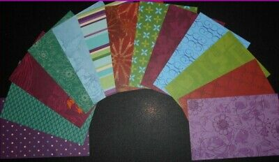 *JEWEL BOX* Beautiful-Colouful Scrapbooking/cardmaking papers x 13 - 15cm x 10cm