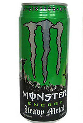 Monster Energy Drink Can Heavy Metal 32 oz FULL CAN