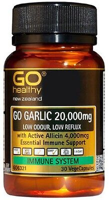 Go Healthy GO Garlic 20,000 HIGHLY CONCENTRATED with Allicin 30 Capsules