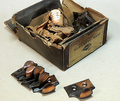 24 Lot Antique vtg c1920 Victorian Hardware Copper WINDOW Sash Lift HANDLE Pull
