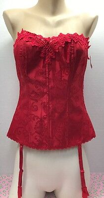 ee55caac4e New Nwt Womens Frederick s Of Hollywood Corset Bustier Bra Lace Up Back Size  38