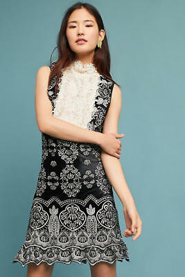 b39eea9ecf3ae NWT ANNA SUI Embroidered Victorian Velvet Dress, Size S - $398.80 ...