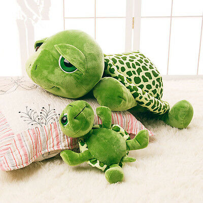New Giant Plush Toy Green Big Eye Turtle Stuffed Soft Plush  Doll Pillow Gifts