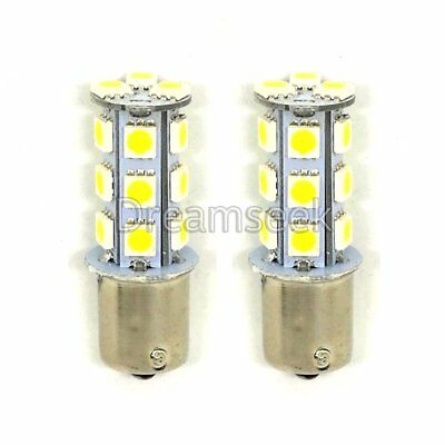 2 X White 1156 BA15S 18-SMD 5050 LED Light bulbs Turn Signal Backup Reverse 12V
