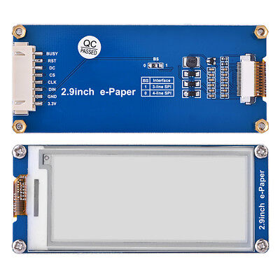 2.9 inch E-Ink display e-Paper module for Raspberry Pi3 Arduino SPI interface SP