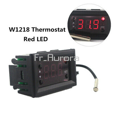 W1218 Thermostat 12V+NTC Sensor Probe Controller 3-Digit Display Replace W1209WK