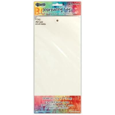 Dylusions Journaling Tags - Size 12 Mixed Media - 10 Pack