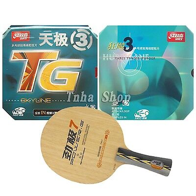 Pro Combo Racket DHS POWER.G7 PG7 PG 7 with NEO Hurricane 3 and NEO Skyline-TG3