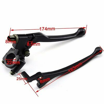 Pair Black Brake Left Clutch Lever Right Handle 110 140 160cc Moped Motorcycle