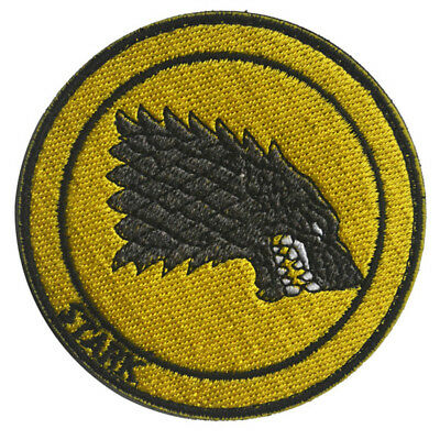 Game Of Thrones Dark Horse House Stark Wolf Sigil 3D Morale Badge Hook Patch #06