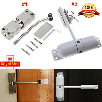 Surface Mounted Door Closer Fire Rated Closing Adjustable Spring Loaded Auto