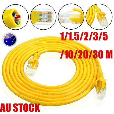 Yellow External Outdoor Cat5e Network Ethernet Cable Copper Cable RJ45 1-30M