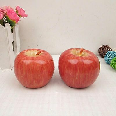 Hot Christmas Eve Apple Candles Simulation Fruit Xmas Party Table Craft Decor