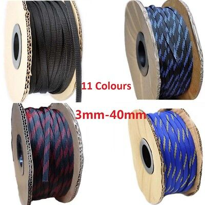 3mm-40mm 11 Colours Braided Cable Sleeving/Auto Wire Harnessing/Sheathing PET