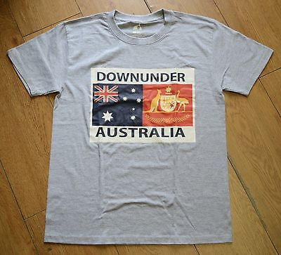 Unisex Souvenir T-shirt 100% cotton Coat Of Arms Of Australia Downunder