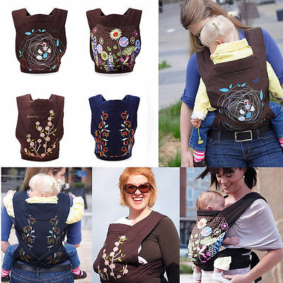 Baby Carrier Sling Back Front Backpack Wrap Newborn Infant Cotton Mei Tai UK
