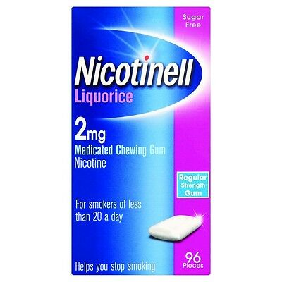 Nicotinell Chewing Gum 2mg Liquorice - 96 Pieces