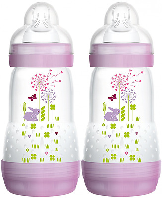 MAM Babyartikel 99921522 - Kit biberon (2 unidades), color rosa, 260 ml