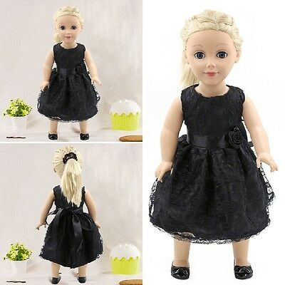 Black Summer Party Dress Clothes fit 18'' Doll Girl Our Generation Dolls HOT
