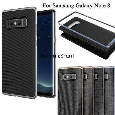 For Samsung Galaxy Note 8 Ultra Slim Rugged Armor Shockproof Black TPU Case Cove