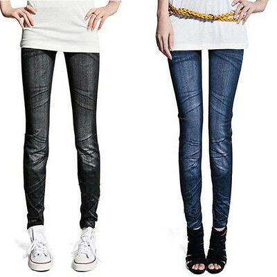 Ladies Womens Jeans Slim Skinny Leggings Stretch Pants Trousers