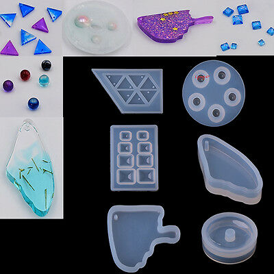 Silicone Mold Necklace Pendant Resin Jewelry Making Mould Hand DIY Craft Tool