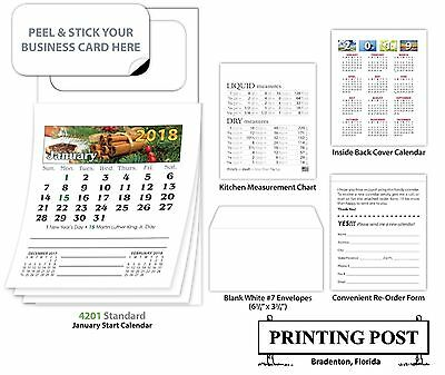 (500) 2018 Magnetic Business Card Calendars - Standard Edition