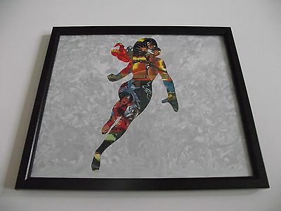 Wonder Woman DC Comics Art Piece - Framed Trading Card Art - Christmas Present