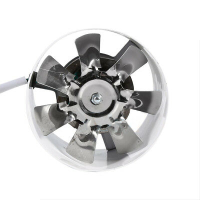 """White & Silver Booster Fan Duct Exhaust Low-Noise Indoor Ventilation 4"""" 20W 220V"""